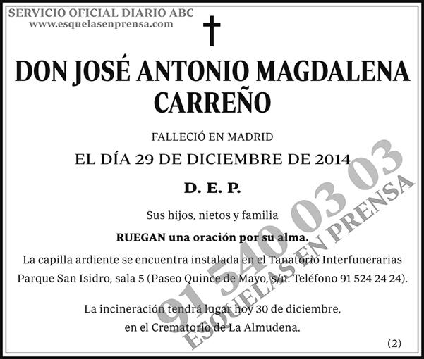 José Antonio Magdalena Carreño